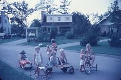 We used to play in the street.  Always.  It was great!