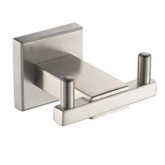 SUS 304 Stainless Steel Angle Simple Bathroom Wall Mounted Coat And Robe  Hook, Brushed Steel