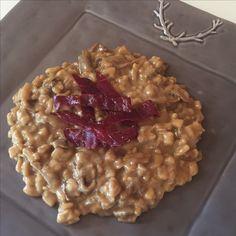 Risotto de crozets au sarrasin, cèpes et Bresaola