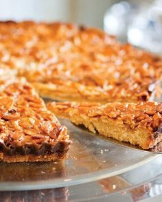 Portuguese Caramelized Almond Tart via Sweet Paul Magazine. I wonder how this will compare to 'my' almond tart, which is really Lindsey Shere's. Tart Recipes, Sweet Recipes, Baking Recipes, Portuguese Desserts, Portuguese Recipes, Portuguese Food, Just Desserts, Delicious Desserts, Yummy Food