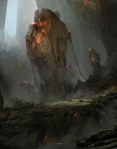 The Art Of Animation — Titus Lunter - TitusLunter - . Environment Concept Art, Environment Design, Fantasy Concept Art, Fantasy Art, Fantasy Places, Dark Fantasy, Fantasy Landscape, Landscape Art, Bg Design
