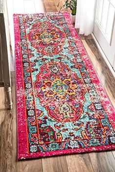 Oriental Vintage Distressed Abstract Runner Area Rug nuLOOM