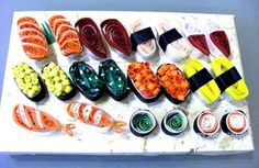 quilled sushi - adorbs!