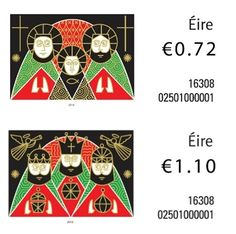 Every year the Irish postal service releases Christmas stamps for what is traditionally the busiest period of the whole year.