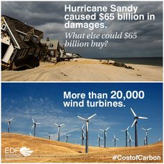 To prevent costly climate disasters like Hurricane Sandy we need to invest in a clean energy future.  Read more on our website: www.edf.org/4zu