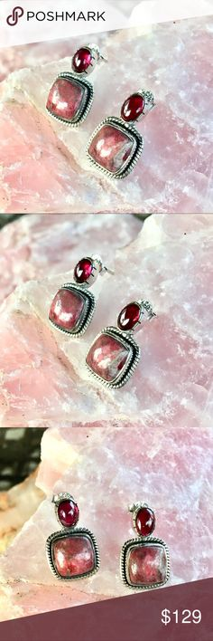 large thulite pendant Thulite bracelet sterling silver 925 gold plated open bracelet wide Thulite cuff natural polished thulite
