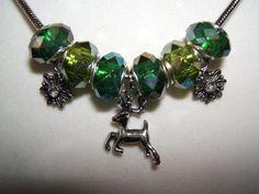 Deer Charm Bracelet by BJDevine on Etsy