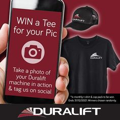 Win a T-shirt & cap for your pic! Post a photo of your Duralift machine in action and Tag @Duralift to go into the monthly draw. 📸🤩 #DuraliftPhotoComp #scissorlift #boomlift #access #duralift Quick Quotes, Free Quotes, Electric Scissors, Knuckle Boom, Pallet Jack, Croydon, Get The Job, How To Take Photos, Quote Of The Day