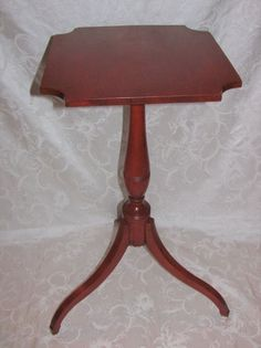 Antique American Federal Cherry Candle Stand Circa 1800 #Federal Candle Stand, Small Tables, Cherry, Candles, American, Antiques, Ebay, Furniture, Home Decor