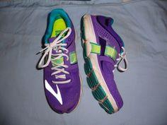Brooks Womens PureFlow 4 sz 10 B 42 Euro light weight running shoes purple teal  #Brooks #RunningCrossTraining