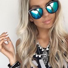 @kirstyfleming in the MY GIRL Sunglasses Black by Quay Australia  Shop  www.whitefoxboutique.com or click the link in our bio