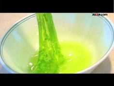 How to Make Slime Video 1 tsp borax and 1 cup water 1/2 cup glue (1 bottle) and 1/2 cup water, food coloring optional