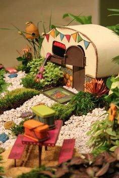 How To Create Your Own Magical Miniature Fairy Garden - Alles über den Garten Beach Fairy Garden, Fairy Garden Houses, Gnome Garden, Fairies Garden, Fairy Village, Little Gardens, Creation Deco, Fairy Doors, Miniature Fairy Gardens