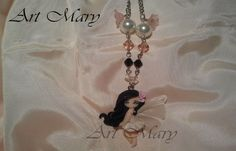 Fairy necklace in fimo polymer clay by Artmary2 on Etsy, €15.00