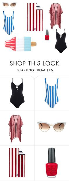 """""""Don't look back in anger"""" by lamaunicorn ❤ liked on Polyvore featuring Seafolly, Solid & Striped, Talitha, Gucci, Pottery Barn and OPI"""