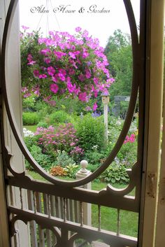 Gorgeous view from inside an old screen door...
