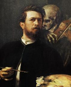 Arnold Böcklin - Self Portrait with Death with a Violin