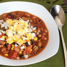 Try our spicy, easy-to-make Skinny Vegetarian Mexican Chili. Just enough kick to please everyone in your family!
