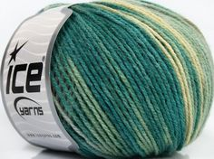 Fiber Content 100% Acrylic, Yellow, Turquoise, Light Blue, Brand Ice Yarns…         Ice Yarns      Needle Size :    3 mm. / US 3     Color :    Turquoise, Yellow, Grey, Light Blue        50 gr. /  140 m. / 153 yds. per ball     2 Fine: Sport, Baby