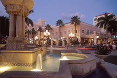 Mizner Park - Boca Raton, FL - Outdoor Mall - so much fun to stroll at night, have your car valet parked, dine, and shop. Description from pinterest.com. I searched for this on bing.com/images