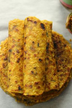 Moong ki daal ka paratha (yellow mung beans/split yellow gram lentil Indian flat bread) is so special to my heart. With it goes tons of. Puri Recipes, Paratha Recipes, Veg Recipes, Indian Food Recipes, Snack Recipes, Cooking Recipes, Ethnic Recipes, Flour Recipes, Bread Recipes