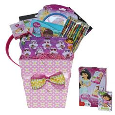 Dora and Friends Get Well Gift Baskets for girls will send Dora and her friends Disney princess to send your best Wishes to your loved one.  Classic and perfect gift for children with food allergies or sensitivities  This Get Well, Birthday Gift Baskets for Girls is a collection of accessories, games, and novelties of all time favorites, Disney Princesses, Sofia the First, Doc, Dora and the Fairies included Watch, Hair Accessories, rings and bracelets, puzzle, art activity, cards and more.