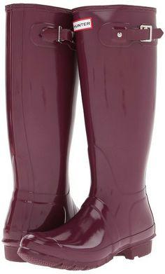 Hunter Original High Gloss (Dark Ruby) - Footwear on shopstyle.com