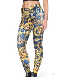 The Pandorica Opens MF Leggings (WW ONLY $85AUD) by Black Milk Clothing