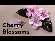 Cherry Blossom Charm - Polymer Clay Tutorial - YouTube