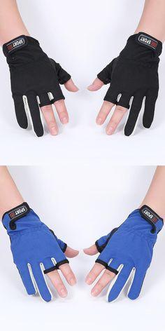 [Visit to Buy] Fingerless Exposed Men&Women Breathable Fishing Glove Anti Slip Sailboat Sailing Fishing Autumn Winter Outdoor 3 cut Glove #Advertisement
