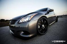 Infinity G37 on VVS086 Black! Wheels (VOSSEN)