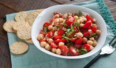 Tomato & Basil Chickpea Salad | Plant-based, oil-free, vegan, gluten-free & soy-free!