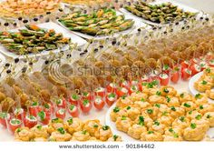 Appetizer display table idea