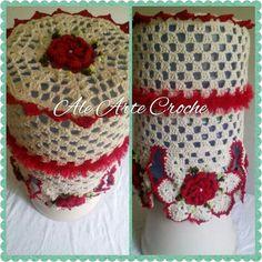 Garrafão de água em croche