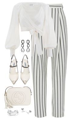 """Untitled #4757"" by magsmccray on Polyvore featuring TIBI, Zimmermann, Prada, Gucci, Myia Bonner and AMBUSH"