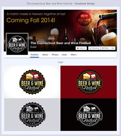 Facebook Cover Photo and Logo for new connecticut craft beer and wine festival by The JA Designs