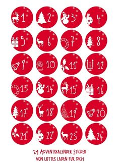 Adventskalenderzahlen Wintermotive Aufkleber Christmas Mood, Diy Christmas Gifts, Christmas Projects, Christmas Decorations, Xmas, Advent Calander, Diy Advent Calendar, Christmas Stickers, Christmas Printables
