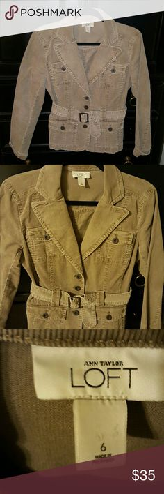 Fabulous gray corduroy jacket Excellent shape, compliment your wardrobe with this one! Ann Taylor LOFT Jackets & Coats Blazers