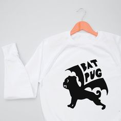 Bat Pug Kids Sweatshirt Jumper - halloween gift - alternative halloween gift - fancy dress - kids fancy dress - halloween costume - pug gifts - bat gifts
