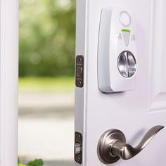 The Okidokeys smart lock works with your existing deadbolt and works with your phone. $239