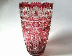 Check out this item in my Etsy shop https://www.etsy.com/listing/510499280/czechoslovakia-leaded-crystal-ruby