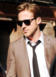 Ryan Gosling + suits + sunglasses = A very happy me