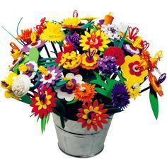 Pretty Flower Crafts For Kids - Kids Craft Room Flower Crafts Kids, Crafts For Kids, Amazing Flowers, Pretty Flowers, Presents For Kids, Zinnias, Gerbera, Dahlia, Planter Pots