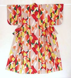 geometric patterned kimono