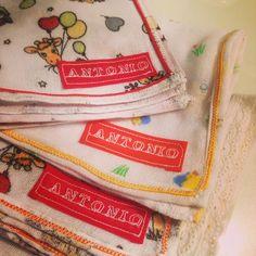 Kit com 3 paninhos personalizados com o nome do bebe! Tecido de fralda, motivos variados ou liso R$ 22,00