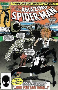 Amazing Spider-Man # 283 Series) December 1986 Marvel Comics Grade NM Source by kensforce Marvel Comics Superheroes, Star Comics, Marvel Comic Books, Marvel Characters, Comic Books Art, Comic Art, Marvel Villains, Marvel Heroes, Book Art
