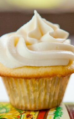 Rum Cupcakes with Caramel Rum Frosting Recipe