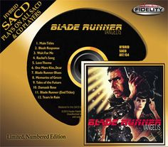 VANGELIS BLADE RUNNER SOUNDTRACK #'D LTD ED SACD. Numbered, Limited Edition! Mastered by Kevin Gray at Cohearent Audio! Features 12-Page Color Booklet and Special Red SACD Tray!   Incredible Audiophile Sound Quality! The Soundtrack to Ridley Scott's 1982 Sci-Fi Film!