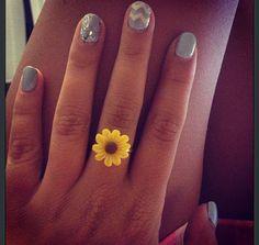 Vintage Sunflower Ring