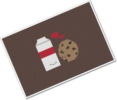 Perfect Pairings - Kawaii Milk and Cookie - PDF Cross-stitch Pattern
